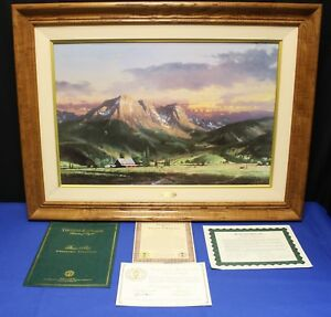 Thomas-Kinkade-Dusk-in-Valley-18-x-27-Framed-Lithograph-on-Canvas-G-P-126-500