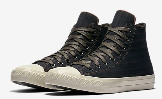 Converse Chuck II by John Varvatos CTAS 2 Striped High Top scarpe da ginnastica Marroneee 153892C