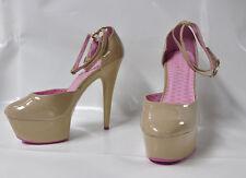 """Ellie """"Curiss"""" nude hi-heel platform D'orsay sandal - Size 11, 6"""" heel - New"""