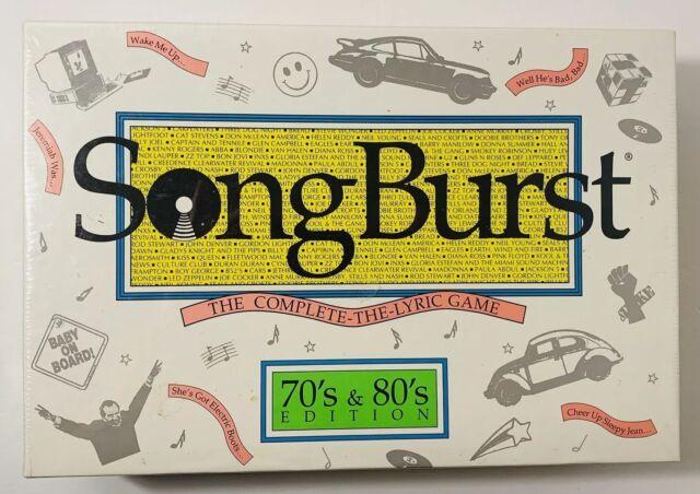 1992 SongBurst - 70's & 80's Edition Game - Hersch Co