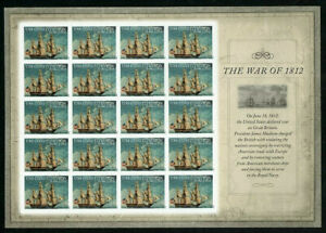 """US 4703a IMPERF """"no die cuts"""" pane of 20 MNH - USS Constitution War of 1812"""