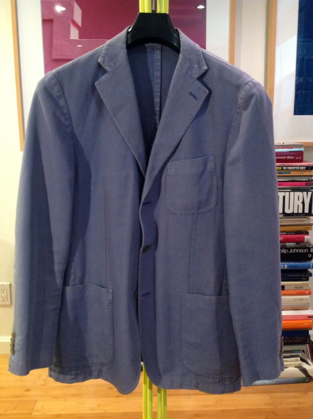 EIDOS - FRENCH Blau - 3BTN CENTER VENT - COTTON SPORT COAT (Sz 52/42)