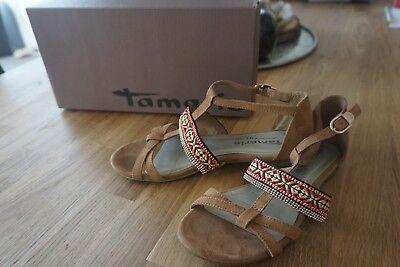 Damen Tamaris Ethno Boho Sandalen Römersandalen Sandaletten
