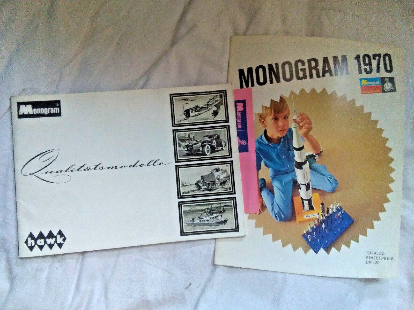 MODELLISMO: Monogram-Hawk-, 2 cataloghi, - 60er anni - 70er