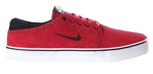 Nike SB TEAM EDITION Gym Red Black White Suede Skateboarding (D) (170) Men Shoes