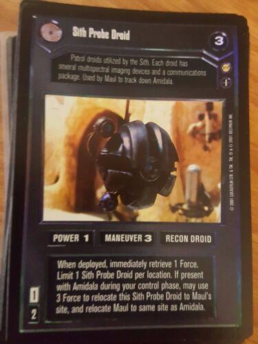 Star Wars CCG Reflections III Sith Probe Droid FOIL NrMint-MINT