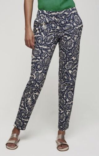 LONG TALL SALLY NAVY/&WHITE FLORAL ANKLE GRAZER TROUSERS PANTS  SZS 10 TO 18