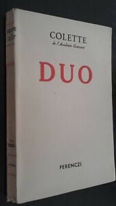 Colette Di L Academie Goncourt Romanzo Duo Ferenczi 1934 Spilla Be