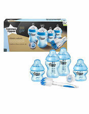 Tommee Tippee Closer to Nature Feeding Bottles Newborn Starter Kit Set blue