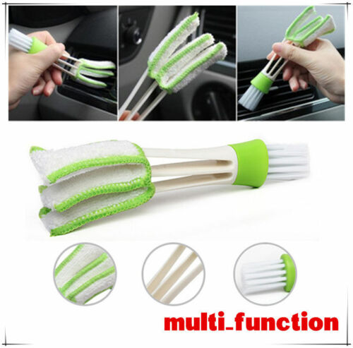 Pro Double-Head Clean Brush Car Indoor Air-condition Outlet Window Care Cleaning