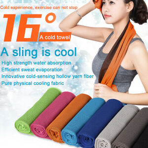 ICE Cold Cool Down Towel Gym Sports Fitness Jogging Instant Cooling Chill Cloth