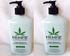Lot of 2 Supre Hempz Triple Whipped Body Creme Moisturizer After Tan Lotion