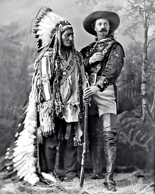 Sitting Bull #2 Photo 8X10 Sioux Indian 1885 B/&W