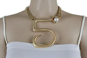Women-Gold-Metal-Chain-Sexy-Hip-Hop-Fashion-Bling-Necklace-5-Snake-Bold-Pendant