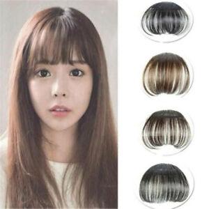 Image Is Loading 100 Real Human Hair Thin Neat Air Bangs
