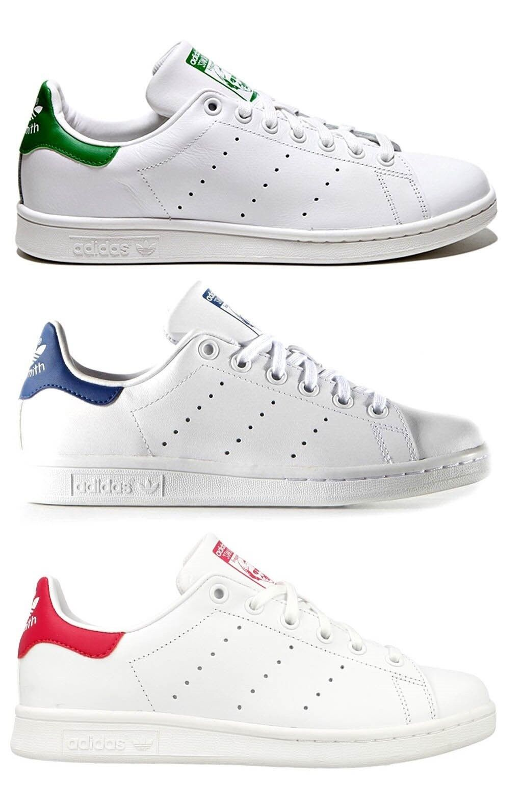 ADIDAS STAN SMITH J femme chaussures sport baskets cuir blanc casual