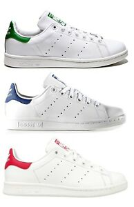 ADIDAS STAN SMITH W women scarpe donna sportive sneakers pelle bianche casual