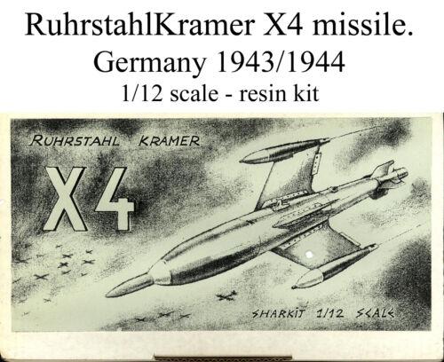 1//12 scale RuhrstahlKramer X4 missile resin kit