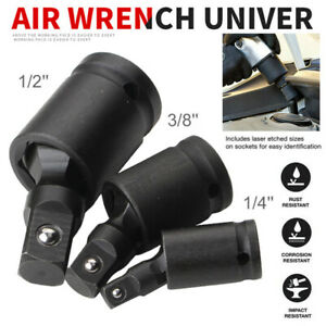 UNIVERSAL-IMPACT-SOCKET-JOINT-SET-3-8-034-1-2-034-1-4-034-Drive-Wobble-Swivel-Extension