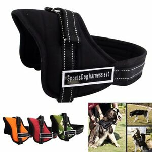 Reglable-souple-rembourre-Non-Pull-Dog-Harness-Vest-Small-Medium-Large-Extra-Big
