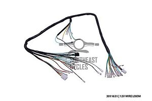 12v complete wire harness loom for honda cub c50 c70 passport image is loading 12v complete wire harness loom for honda cub