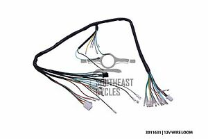 Details about 12v Complete wire harness loom for Honda cub C50, C70, on