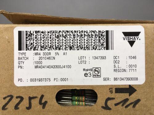 Metall-Film Widerstand 330 Ohm 5/% 2W 500V high pulse Vishay neu 100 Stück
