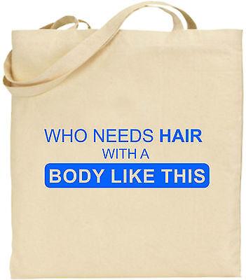 Who Needs Haare Groß Baumwolltasche Einkaufstasche Weihnachten Geburtstag Tag