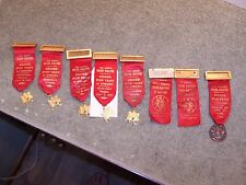 8 Vintage 1950 Military Order Of Cootie Grand Scratch Ribbons / Medals Oregon