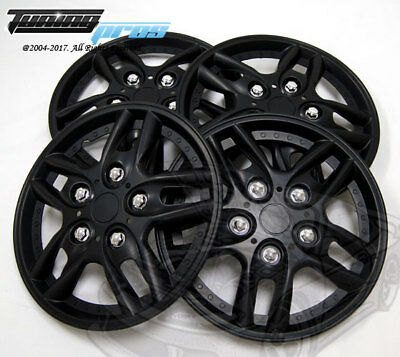 """14 Inches #515 Snap-On Hubcap 14/"""" Inch Wheel Rim Skin Cover 4pcs Matte Black"""