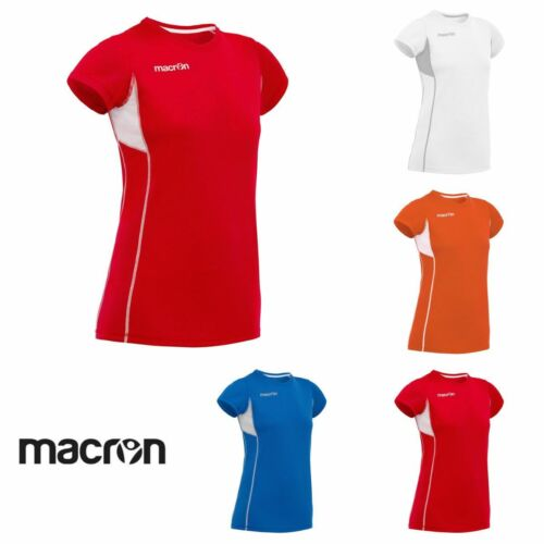 RUNNING JOGGING ATHLETICS SHIRT WOMAN AGNES MACRON Sizes from XS to 2XL