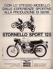 Pubblicità originale Anni 60 STORNELLO SPORT Moto Guzzi advert reklame werbung