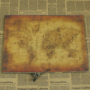 Large vintage style retro paper poster globe old world map gifts image is loading large vintage style retro paper poster globe old gumiabroncs Image collections