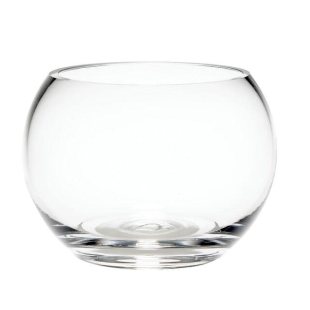 Glass Fishbowl Vase 10cm X 75cm Ebay