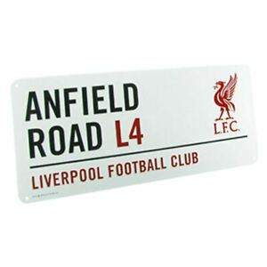 Fc Official Football Club Road Metal Gift Liverpool Retro Street Sign