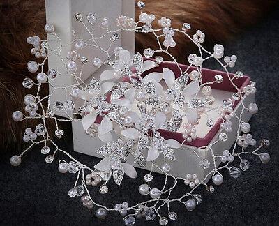 Perline per Capelli Halo DIAMANTE fiore Matrimonio Cristallo di vite per Capelli da Sposa Accessori