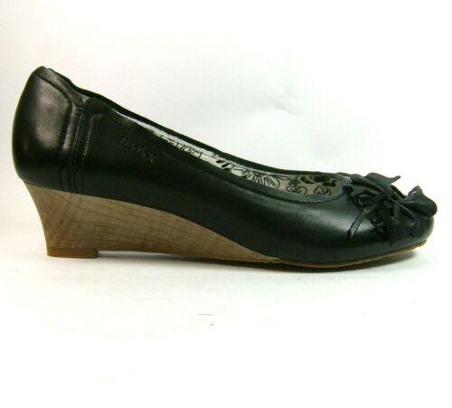 Scarpe rotonda con a da misura donna scarpe tacco in punta pelle con 5 zeppa 4 7 Boxx nera rwr7vqxY