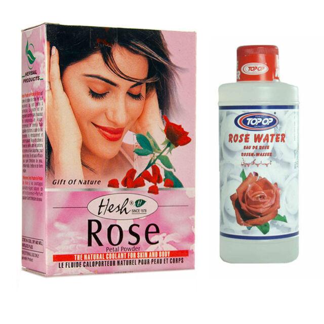 Natural Herbal Rose Petal Powder 50g or Water 200ml for Face Hair Skin Mud Pack