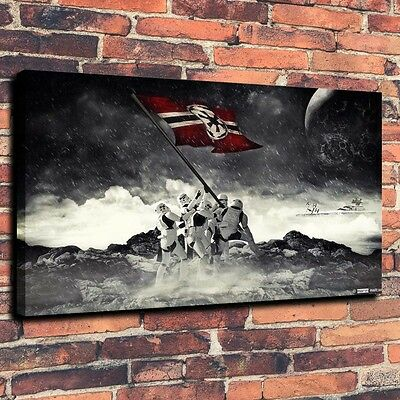 """Art Quality Canvas Print Oil Painting Star Wars Stormtrooper Flag A4062,16""""x24"""""""