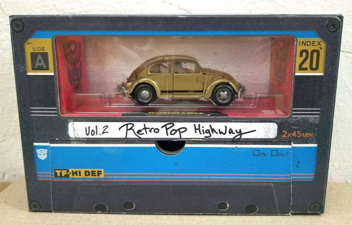 HASBRO TRANSFORMERS STUDIO SERIES  20 BUMBLEBEE VOL.2 RETRO POP HIGHWAY & G1 TAP