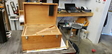Empty Starrett 436m 0 300mm Outside Micrometer Set Wood Storage Box Only Lot5