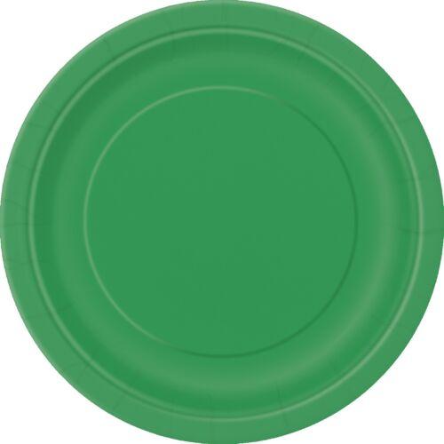 Verde Esmeralda 22cm Papel Fiesta PlatoscelebraciónBarbacoa 1-48pk
