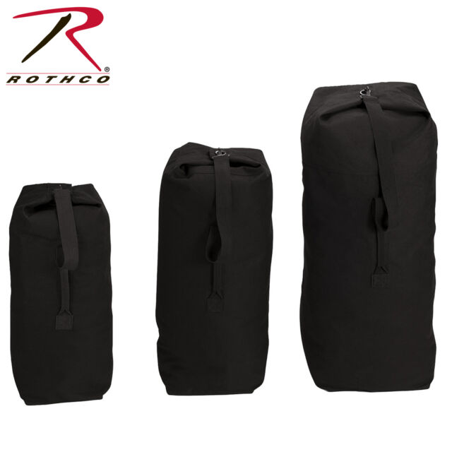 Rothco Heavyweight Top Load Canvas Duffle Bag Black 25 X 42 for sale ... 244f3a15d4fde