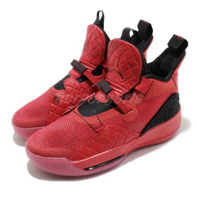 Air Jordan XXXIII Youth Boy/'s Basketball Shoes AQ9244 600 University Red Black