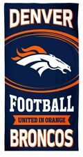 2 Denver Broncos towels FREESHIPPING 57L x 27W set of 2 NFL towels lighterweight