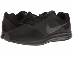 Nuova Uomo Nike Downshifter 7 Scarpa Da Corsa, Nero / Metallico Ematite 8,5 852459 001