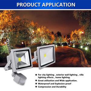 Sensor-de-movimiento-PIR-10W-20W-30W-50W-LED-de-Luz-al-Aire-Libre-Foco-Seguridad-Clasico