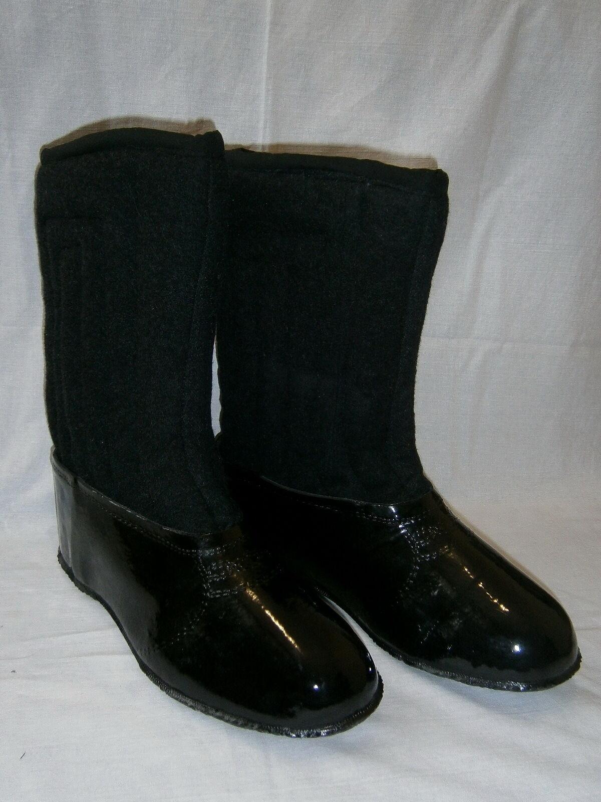 Russian Winter Footwear Warm Felt Boots Wool Valenki Snow Rain Rubber Overshoes