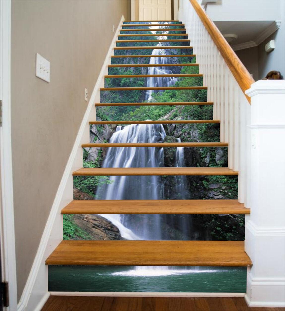 3D Grünen Hügel 432 Stair Risers Dekoration Fototapete Vinyl Aufkleber Tapete DE