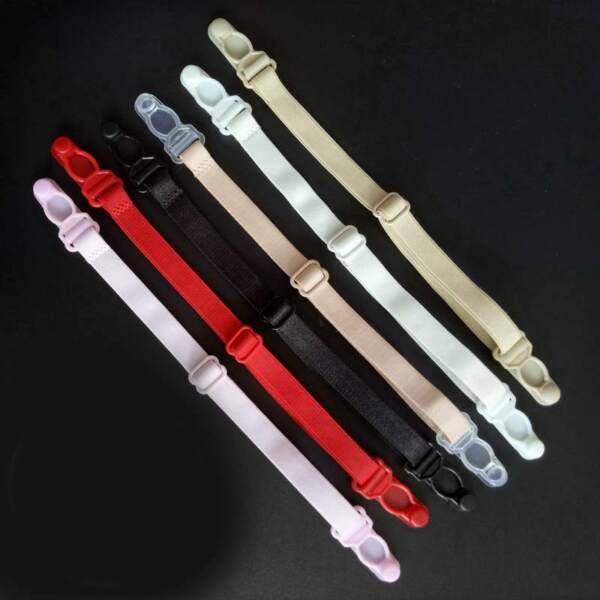2,63€/Stk 4 Strumpfhalter ca 1cm breit ca 17-26cm einstellbar Straps Strumpfband